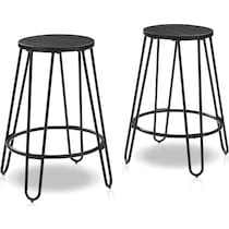 sami black  pack counter height stools