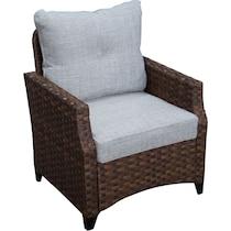 santa cruz dark brown outdoor sofa set