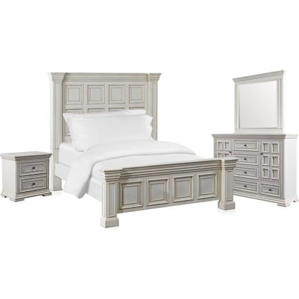 Santa Rosa 6-Piece King Bedroom Set with Nightstand, Dresser and Mirror