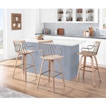 saul light brown counter height stool