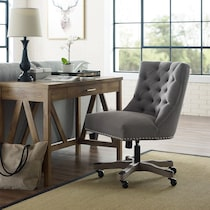 scarlett gray office chair