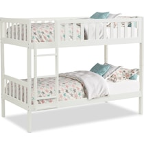scout white twin over full bunk bed