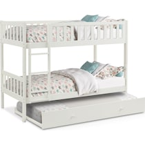 scout white twin over twin bunk bed with trundle