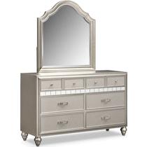 serena youth platinum platinum dresser & mirror