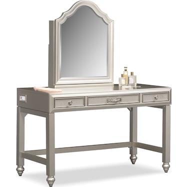 Serena Vanity and Mirror - Platinum