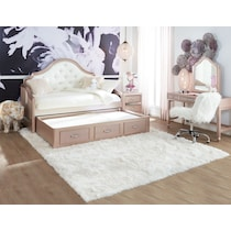 serena youth rose quartz pink daybed