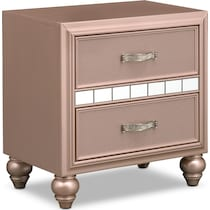 serena youth rose quartz pink nightstand