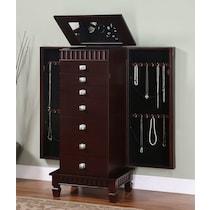 sharon dark brown jewelry armoire