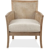 shasta light brown accent chair