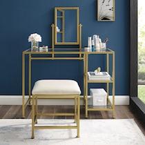 shea gold vanity