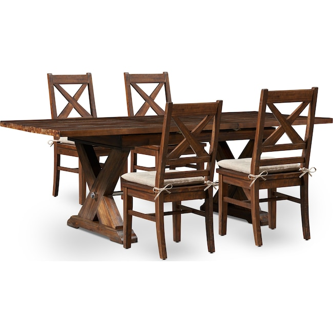 Dining Room Furniture - Shiloh Dining Table and 4 Dining Chairs