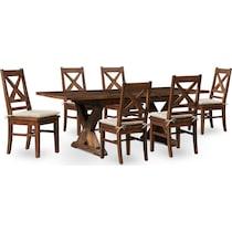 shiloh dark brown  pc dining room