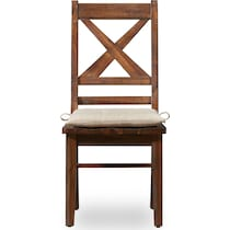 shiloh dark brown dining chair