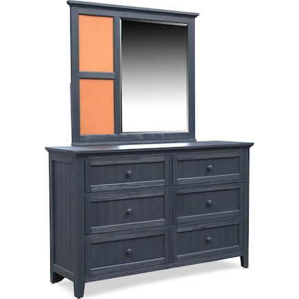 Sidney Dresser and Mirror - Navy