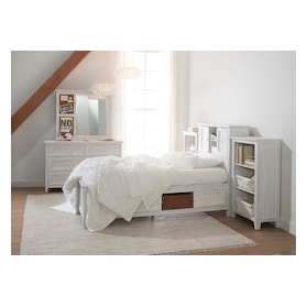 Sidney Bookcase Storage Bed and 2 Bookcases