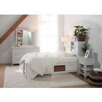 sidney white twin bookcase bed w storage