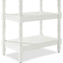 sienna white accent table