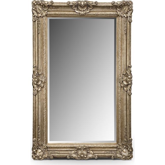 Home Accessories - Silver Antique Floor Mirror