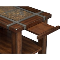 slate ridge dark brown chairside table