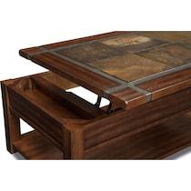 slate ridge dark brown lift top coffee table