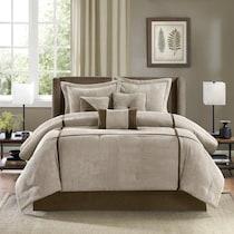 sonia light brown full queen bedding set