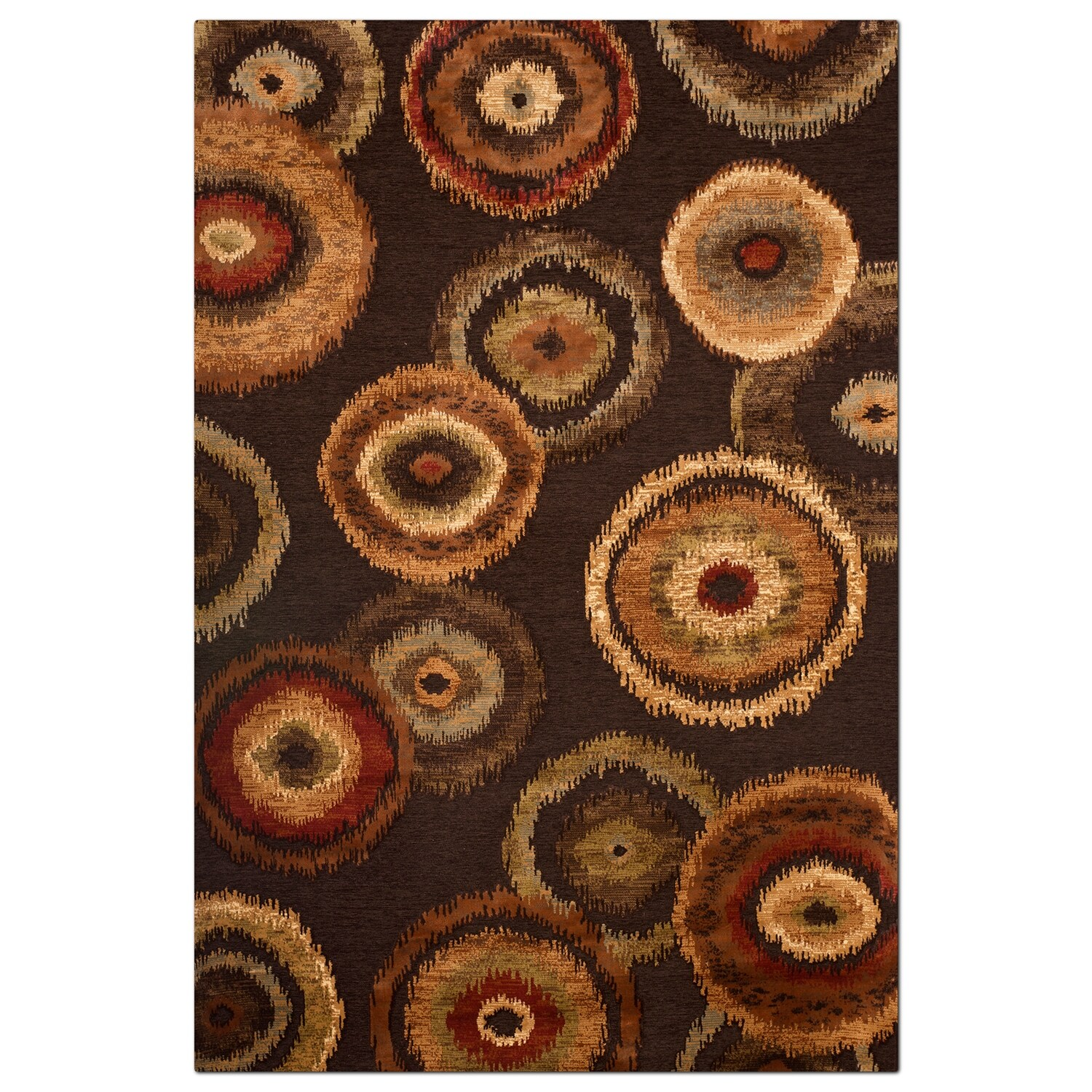 Rugs - Sonoma Adeline Area Rug - Medium Brown and Beige