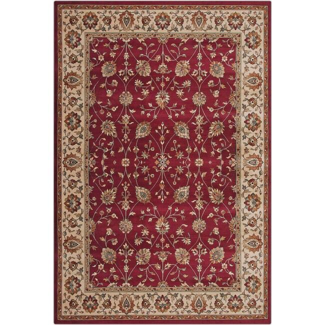 Rugs - Sonoma Noble 5' x 8' Area Rug - Red and Beige