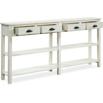 sorrel white console table
