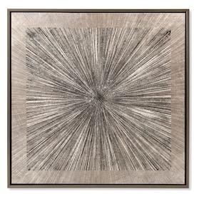 Silver Spokes Framed Print