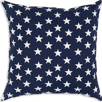 stars blue outdoor pillow