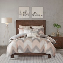 stowe pink full queen bedding set