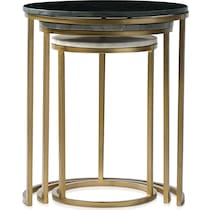 sutton black and gold nesting tables