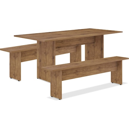 Sylvan Dining Table and 2 Benches