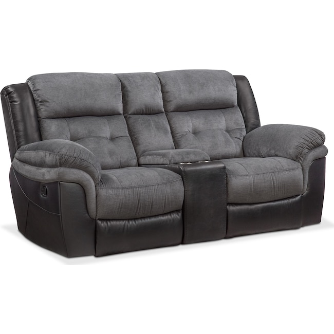 Living Room Furniture - Tacoma Manual Reclining Loveseat