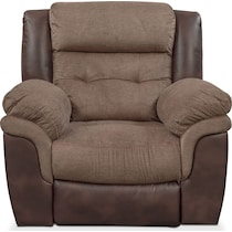 tacoma power dark brown power recliner