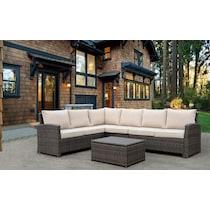 tahoe light brown outdoor sectional set