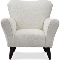 tallulah white accent chair