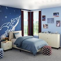 teagan white full upholstered bed