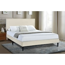 teagan white queen upholstered bed
