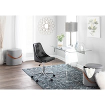 tess black office chair
