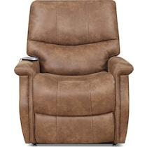 teton light brown power lift recliner