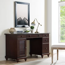 theo dark brown desk