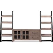 tiburon gray entertainment wall unit