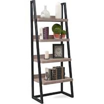 tiburon gray ladder shelf