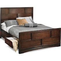 toronto dark brown king storage bed
