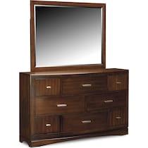 toronto pecan dresser & mirror
