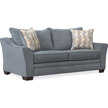 Trevor Full Foam Sleeper Loveseat - Blue