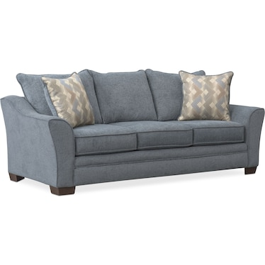 Trevor Queen Foam Sleeper Sofa - Blue