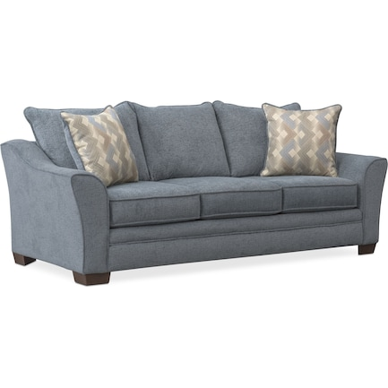 Trevor Queen Memory Foam Sleeper Sofa - Blue