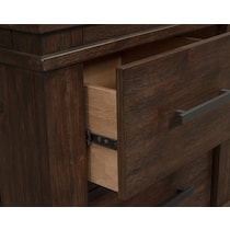 tribeca bedroom dark brown nightstand